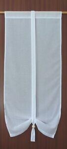 RAFFGARDINE GARDINE TÜRGARDINE SCHAL WEISS 45 cm X 100 cm Maße auch nach Wunsch