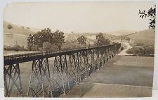 Chemin de fer Pont Glen Frazer 1910 Train Brigde - Carte postale AK (A2412)