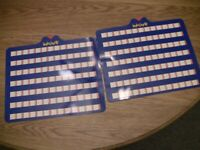 Inklings 1993 Family Board Game Trivia Replacement Parts/Pieces-2 Slates
