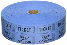 20 X DOUBLE TICKET ROLLS 2000 RAFFLE TICKETS 50/50 DOUBLE STUB VARIOUS COLOURS