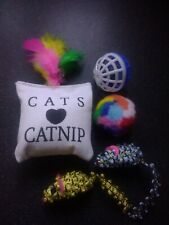 5 Bulk Cats Toys Kitten Mouse Feathers Bells Balls Fur Scratch Rat Play catnip