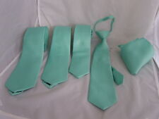 """Mint Green Ties>Classic 3.3"""" -Slim 3""""- Skinny 2.5"""" - Boys 3""""- Hanky Only OR Sets"""