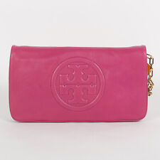 Tory Burch Bombe Reva Clutch Magenta #90009600 Women Shoulder Bag Luggage NWT