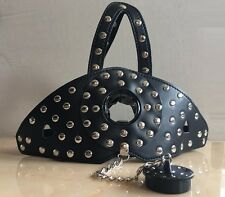 Nero Ecopelle Borchie Head Hood & Spina Ball Gag Dungeon Ruota Kit ritenuta