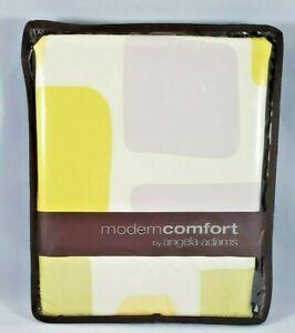 "NWT! Modern Comfort Fabric Shower Curtain Shimmer Citrus 72"" x 72"" Yellow Gray"