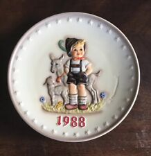 """Hummel 1988 Annual Plate """"Little Goat Herder"""" by Goebel With Box"""