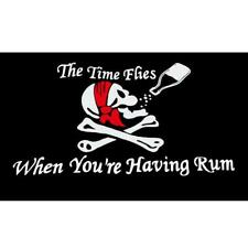 Times Flies When Having Rum Pirate Flag 2x3ft Pirate Boat Flag Jolly Roger Flag