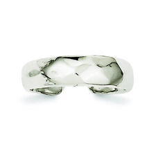 .925 Sterling Silver Solid Domed Toe Ring Msrp $56