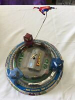 Superman Toy Tin windup toy based on Honeymoon Express