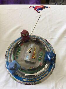 Superman Toy Tin windup toy based on Honeymoon Express