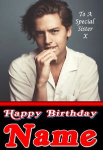 Cole Sprouse, Star Of Riverdale Jughead Jones - Personalised Birthday Card, FAB!
