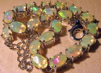 Armband 18 cm., facettierte Opale,