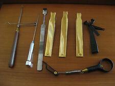 Kit herramientas: quemadores de alas de ninfa, cargador, pinzas, punzón. Nuevo.