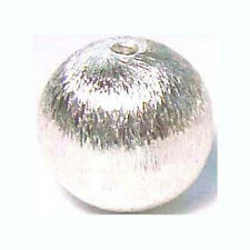 10pcs 925 Round Sterling Silver brushed texture Bead Spacer bright shiny  S67