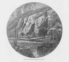 Ardennen Fumay Maas HOLZSTICH um 1880 Frankreich France