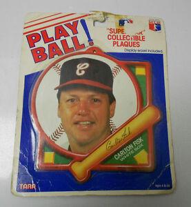 Tara Toys PLAY BALL Collectible Plaques CARLTON FISK White Sox MOC
