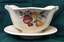 Teleflora Ceramic Fruit Centerpiece Bowl With Attached Plate-Made In Portugal