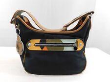 Kipling Women's Purse Shoulder Bag Black Multicolor Trim Removable Pouch HB3188