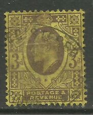 GB 1901 - 11 KEV11 3d Yellow/Purple jubilee. ( T466 )