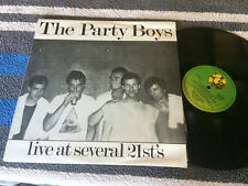 """THE PARTY BOYS LIVE AT SEVERAL 21ST'S LP VINYL 12"""" RECORD w/INNER JAMES RAYNE"""