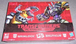 Transformers Platinum Edition GRIMLOCK VS. BRUTICUS Action Figure Set New Sealed