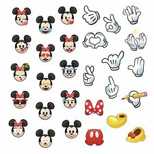 MICKEY MINNE MOUSE 29 EMOJIS Wall Decals Room Decor Stickers EMOJI Face Hand Bow