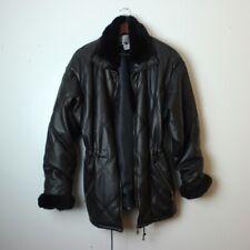 BB Dakota Women's Medium Black Faux Leather Parka Jacket