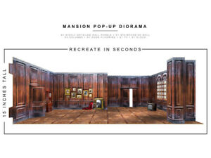Mansion 1/12 Scale Pop-Up Diorama BY EXTREME-SETS INC new