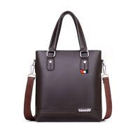 Business handbag Leather Briefcase Men's Shoulder Bag Tote Crossbody Satchel Bag