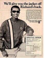 1972 RICHARD PETTY / COOL-RAY POLAROID SUNGLASS JACKET  ~  ORIGINAL PRINT AD