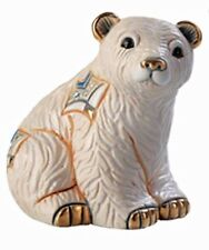 More details for de rosa baby arctic polar bear figurine f363 in branded gift box