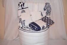 New Pottery Barn  Baby 4 pc Prescott Crib Bedding Quilt Skirt Sham Bumper Zebra