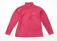 Craghoppers Womens Size 10 Fleece Pink Half Zip Jacket
