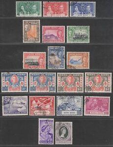 Hong Kong 1937-53 KGVI-QEII Selection Used inc Coronation / Centenary / UPU