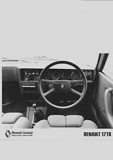 "RENAULT 17 TS ORIGINAL INTERIOR PRESS PHOTO ""SALES BROCHURE"""