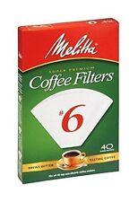 Melitta Super Premium #6 Cone Paper Coffee Filters White, 40 Count - Pack of 12