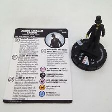 Heroclix Undead set Zombie Abraham Lincoln #008 Gravity Feed figure w/card!
