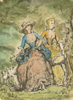 Harold Hope Read (1881-1959) - Early 20th Century Watercolour, Victorian Ladies