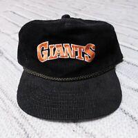 Vintage 90s San Francisco Giants Corduroy Strapback Hat Cap SF