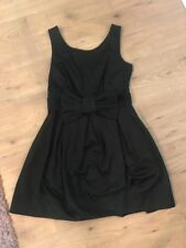 Ladies Black Bow Belt Skater Dress From River Island (Size 12)