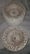 Barocco Earthenware Handcrafted Italian Soup/Cereal Bowls by Artimino (8)