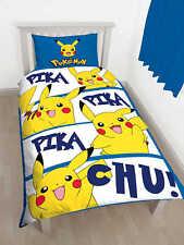 Pokemon Pikachu Action linge de lit Réversible 135x200 Ensemble Set Enfants