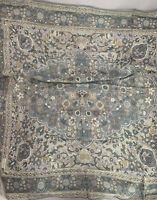 """Liz Claiborne Square Rayon Scarf Vintage 31"""" floral pastel colors """"Pre-owned"""" S1"""