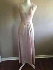 Vintage Vanity Fair Soft Pink Stretch Lace Slip Sleep Full Size 34