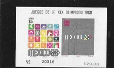 MEXICO 1968 OLYMPIS S/S SCOTT C344A MNH.
