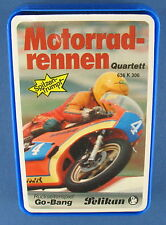 Quartett - Motorradrennen - Pelikan - Nr. 636 K 306 - NEU in Folie - Kartenspiel