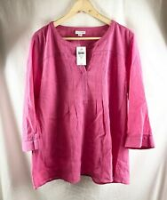 NEW, J Jill Sweet Pea Crinkled-Cotton Pleated Top - Size LP