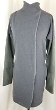Women's Humanoid Coat Jacket Wrap Comfortable Luxury Cotton Grey Size XS
