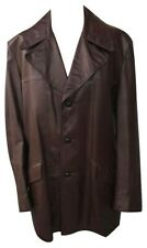 Vtg 1970s Swagger Mens Brown Genuine Leather Jacket Sz 46L Retro Rock Hipster