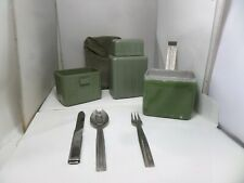 YUGOSLAVIAN ARMY MESS TIN COOK SET FLASK CUTLERY SET CASE